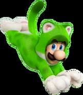 SM3DW Artwork Katzen-Luigi