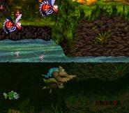 DKC3 Screenshot Flotte Fluss-Flitzerei 2