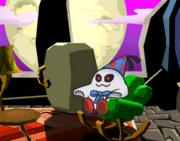 Doopliss sentado en un sofa