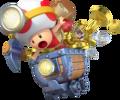 Captain Toad Minecart Artwork