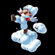 SMG2 Artwork Wolken-Mario