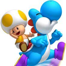 Toad amarillo y Yoshi azul.jpg
