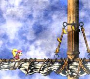 DKC2 Screenshot Schlotter-Mast 5