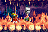 DKC3GBA Screenshot Höhlen-Holerö