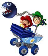 MKDD Artwork Baby Mario & Baby Luigi