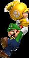 Propeller Toad Luigi Artwork - New Super Mario Bros. Wii