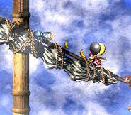 DKC2 Screenshot Schlotter-Mast 7