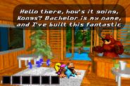 DKC3GBA Screenshot Bachelors Hütte