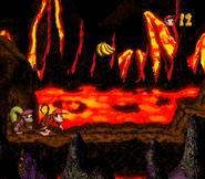 DKC2 Screenshot Heißer Ritt 5