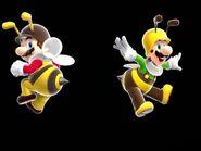 Bee Mario & Bee Luigi