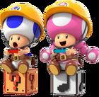 SMM2-Toad&Toadette