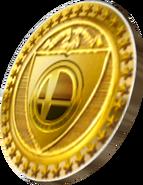 SSBB Artwork Goldene Smash-Münze