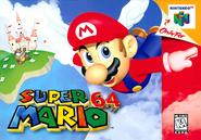 Super Mario 64 - North American boxart