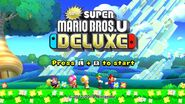 New Super Mario Bros. U Deluxe - Title Screen