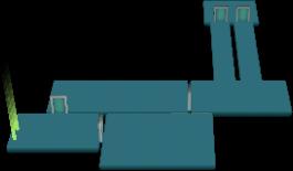 Karte des Labors bei Drücken der X-Taste