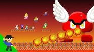 Level UP Team Mario vs Giant Fire Paragoomba