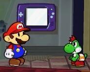Mini-Yoshi and Mario PMTTYD