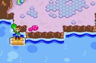 Luigi en un barril M&LSS