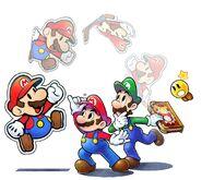 Mario and luigi paper jam e3 art 1