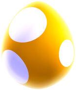 NSMBU Artwork Gelbes Baby-Yoshi-Ei