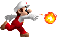 Artwork of Fire Mario from New Super Mario Bros.
