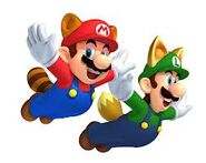 Mario y luigi tanooki NSMB2