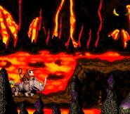 DKC2 Screenshot Heißer Ritt 4