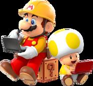 SMMfor3DS - Mario y Toad