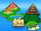 Map royaume champignon mario & luigi