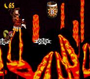 DKC2 Screenshot Lava-Samba 9