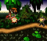 Klump defeated - Jungle Hijinxs - Donkey Kong Country