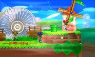 SSB3DS Screenshot Paper Mario (Stage)