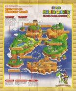 Carte de dinosaur land super mario advance 2