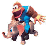 DKC3 Artwork Ellie & Kiddy Kong