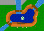 Yoshi Falls - Map - Mario Kart DS
