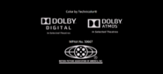 Color by Technicolor, Dolby Digital, Dolby Atmos, and MPAA Logos