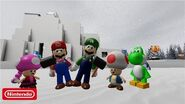 Super Mario Escape From Bowser Island Trouble at Snow Island