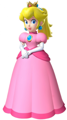 Princess Peach with a ponytail from Mario Kart series and Super Mario 64 DS.png