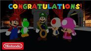 Super Mario Escape From Bowser Island Congratulations Luigi!