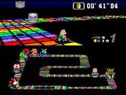 SMK SNES Rainbow Road 3