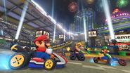 MK8Mario Luigi Wario in Mario Kart Stadium
