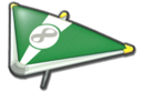 MK8 Green White Super Glider