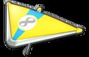 MK8 Yellow Cyan Super Glider