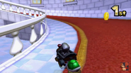 Mario Circuit 3DS Inside Peachs Castle