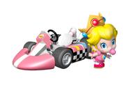 Baby Peach in Mario Kart Wii