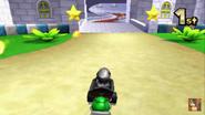 Mario Circuit 3DS Entering Peachs Castle