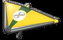 MK8 Gold DarkGreen Super Glider