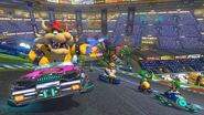 MK8 Bowser and Racers in Mario Kart Stadium