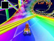 MKDS Rainbow Road Corkscrew