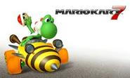 Alternate Title Screen (Mario Kart 7) (Yoshi)